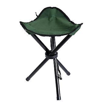 Sgabello pieghevole per sedia da esterno per campeggio, pesca, caccia, spiaggia ecc. (Verde)