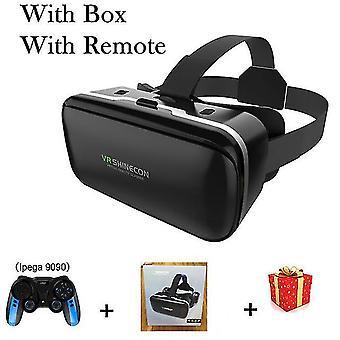 Vr shinecon 6.0 casque okulary wirtualnej rzeczywistości 3 d 3d gogle zestaw słuchawkowy kask dla iphone android