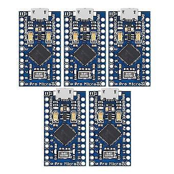 5Pcs pro mini atmega32u4 placa de módulo de 5v/16mhz con cabezal de pin de 2 filas para arduino leonardo