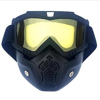 ركوب الدراجات قناع نظارات نارية ، يمكن واقية قناع ، ومكافحة الضباب ، والغبار ، والرياح ، ورذاذ ، وتستخدم أيضا لسكوتر الكهربائية ، سكوتر الرياضة في الهواء الطلق