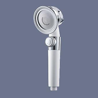 Cabezal de ducha de alta presión con botón de interruptor Baño 3 Funciones Filtro de spa Bañera Cabezal de ahorro de agua Ducha de ahorro de agua
