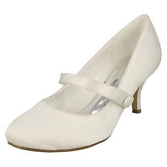 Ladies Anne Michelle Low Heel Wedding Shoes