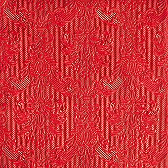 Ambiente 3 Ply Paper Lunch Napkins, Elegance Red