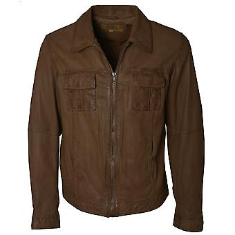Ashwood JP Mens Camel Leather Jacket
