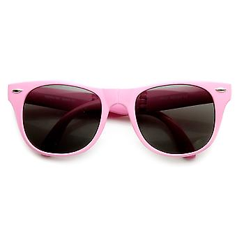 Neon Bright Colorful Compact Folding Pocket Horn Rimmed Sunglasses 54mm