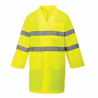Portwest - Hi-Vis Sicherheit Arbeitskleidung Schule Patrol langen Mantel