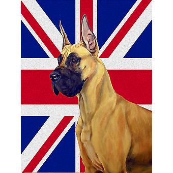 Stor danske med engelsk Union Jack britiske flagg flagg House lerretet