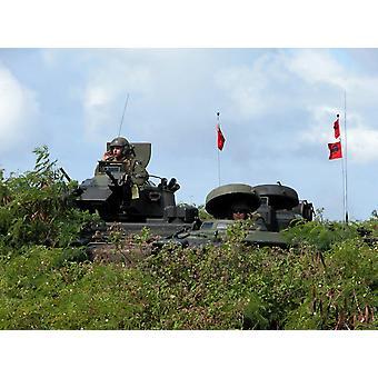 Marinesoldater gi sikkerhet i sine overgrep amfibiske kjøretøy Poster trykk av Stocktrek bilder