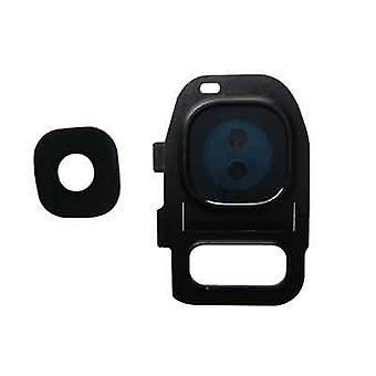 غطاء عدسة الكاميرا الأسود سامسونج جالاكسى S7