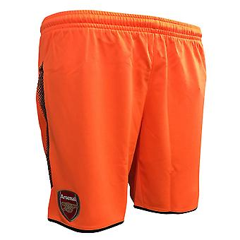 2017-2018 Arsenal Away Goalkeeper Shorts (Orange) - Kids
