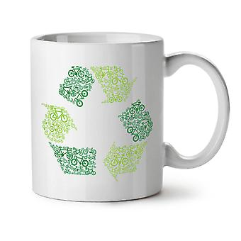 Green Art Eco Funny NEW White Tea Coffee Ceramic Mug 11 oz | Wellcoda