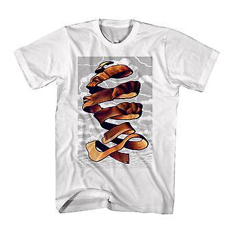 M.C. Escher Face Rind Men's White T-shirt