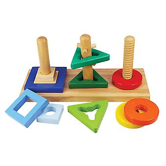 Bigjigs Toys Wooden Educational Twist and Turn Puzzle Game Play Set