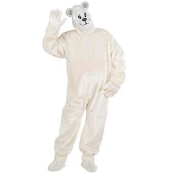 Peluche Oso Polar traje (traje guantes zapato cubiertas de máscara)