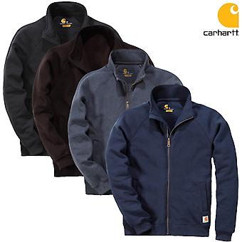 Carhartt men's Hooded Sweatshirt-midweight mock neck zip front K350