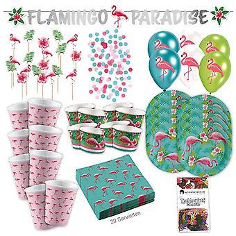 Pink Flamingo 73-teilig Flamingo partii tropikalny partii strony pole strony pakiet