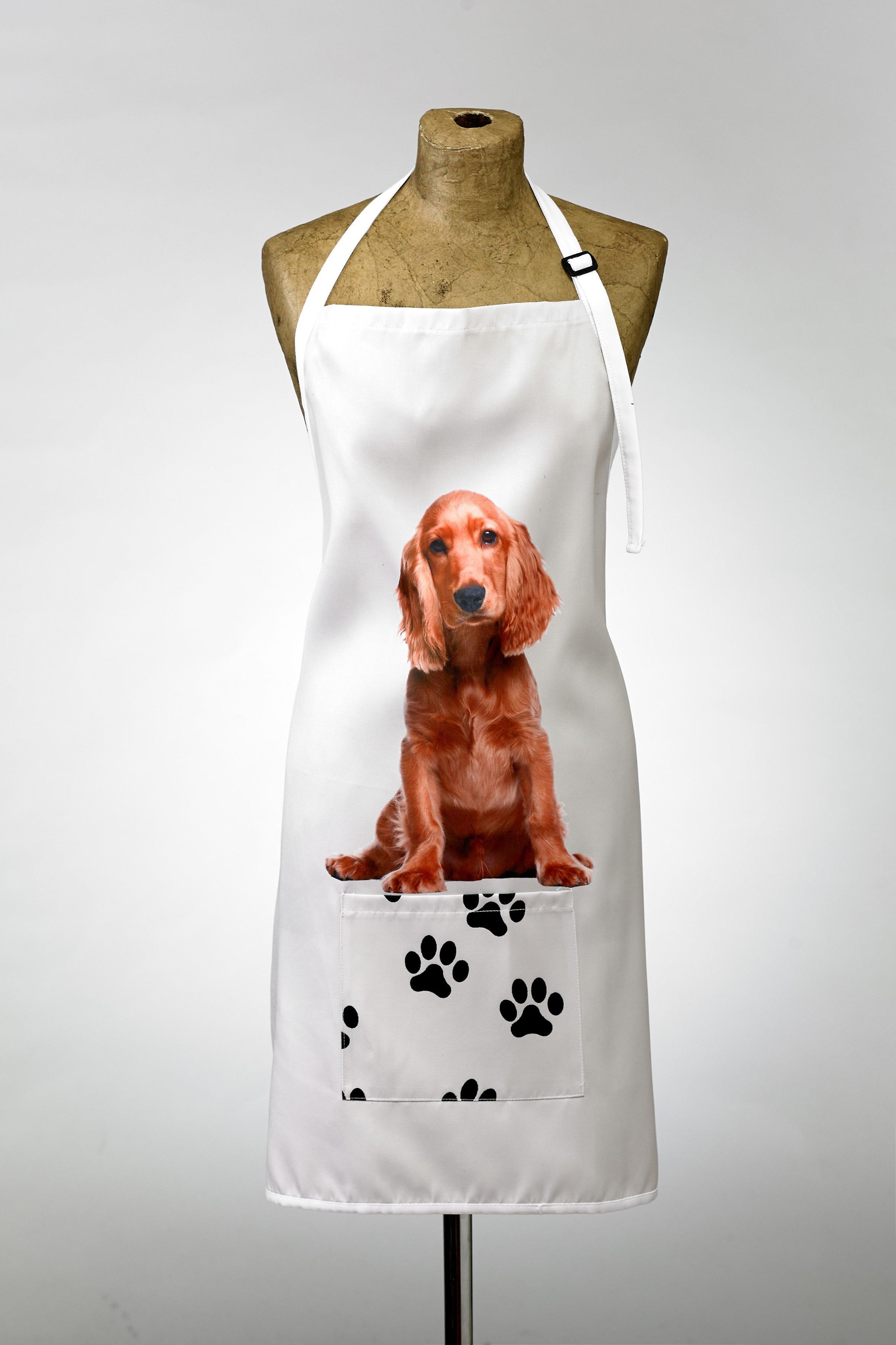 Adorable cocker spaniel design apron