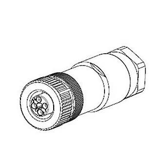 TE Connectivity 2120950-1 Sensor-/ manöverdon Kontakt M12 Socket, raka No. Pins (RJ): 4 1 dator