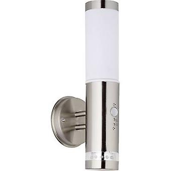 Brilliant Bole G96131/82 Outdoor wall light (+ motion detector) HV halogen E-27 60 W Stainless steel