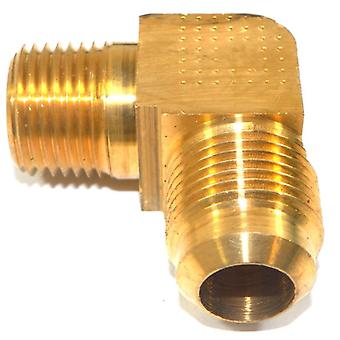 "Big A Service Line 3-149908 Brass Pipe, 90 deg Street Flare Elbow 5/8"" 1/2"""