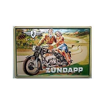 Zundapp 601 relieve muestra acero 200 Mm X 300 Mm
