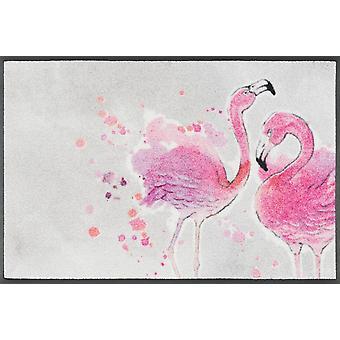 wash+dry Fußmatte Flamingo waschbare Schmutzmatte