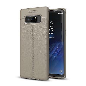 Handy Hülle Schutz Case für Samsung Galaxy Note 8 Cover Rahmen Etui Grau