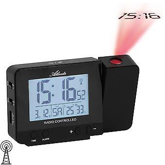 Atlanta 1884 alarm clock radio alarm clock radio black digital projection projection alarm clock