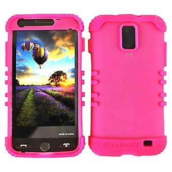 Rocker Series Skin Protector Case pour Samsung I727 / Skyrocket / Galaxy S2 (Fluorescent Magenta)