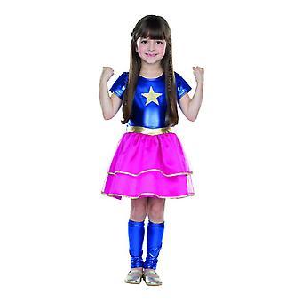 Ragazza piccola eroina costume bambini supereroe Halloween carnevale vestito