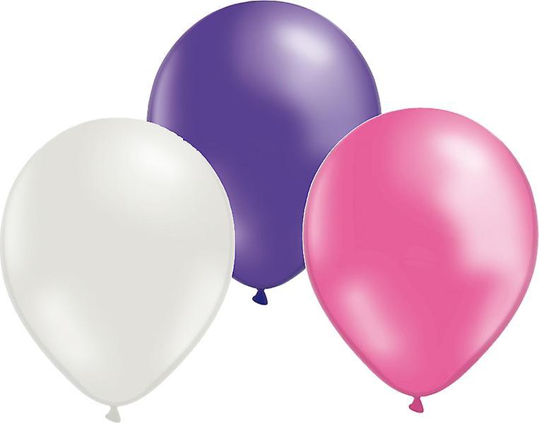 Ballonger 24-pack Lila/Rosa/Vit