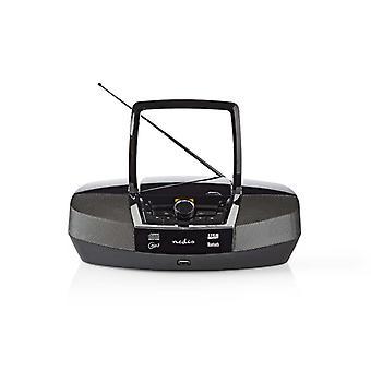 Nedis SPBB200BK Boombox 12 W Bluetooth® Cd-speler / Fm-radio / Usb / Aux Zwart