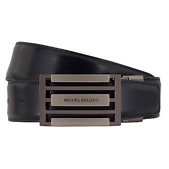 MIGUEL BELLIDO clasico belt belt men's belts leather belt blue/Brown 7731