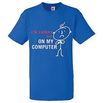 Kuninkaallinen miesten olisin mieluummin minun tietokone t-paita