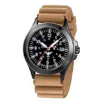KHS orologi mens watch plotone nero titanio cronografo KHS. BPTC. DT
