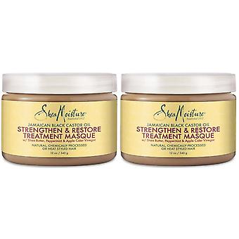 Shea Moisture Jamaican Black Castor Oil Strengthen & Restore Treatment Masque 340g (2-Pack)