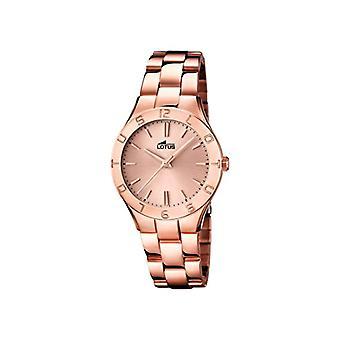 Lotus-pols horloge, analoog, kwarts roestvast staal gecoat, vrouwelijke