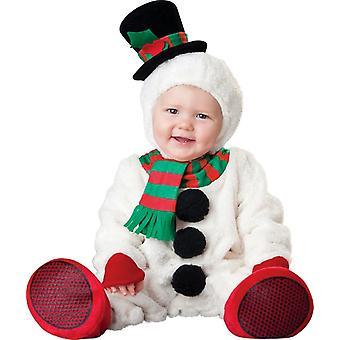 Costume infantile del bambino del pupazzo di neve