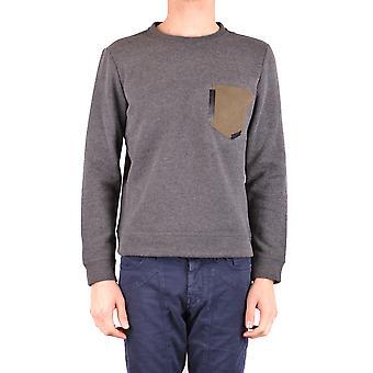 Paolo Pecora Ezbc059032 Men's Grey Cotton Sweatshirt