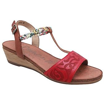 Remonte Low Wedge T Bar Sandal