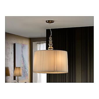 Schuller Traditional Champagne Silver LED Ceiling Light For Living Room
