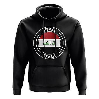 Irak jalka pallo Badge huppari (musta)