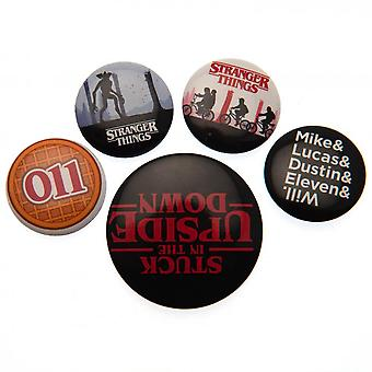 Étranger choses bouton badge Set (Pack de 5)