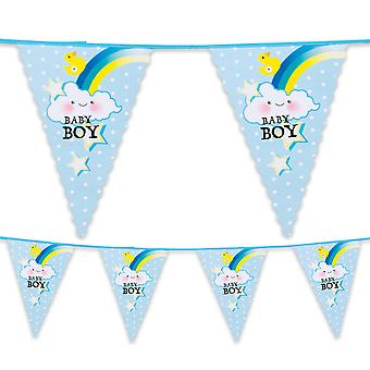 6 Metre Plastic Bunting Baby Boy New Birth
