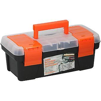 Toolbox 25x12x9.5cm Werkzeuggehäuse Kunststoff schwarz stark