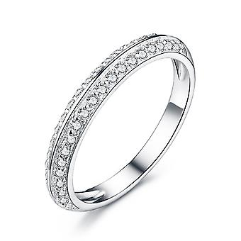 925 Sterling Silver Knife Edge Band Ring