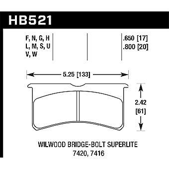 Hawk performance HB521G. 800 DTC-60