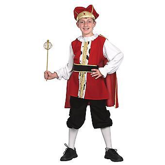 Bristol Novelty Niños/Niños Medieval King Traje