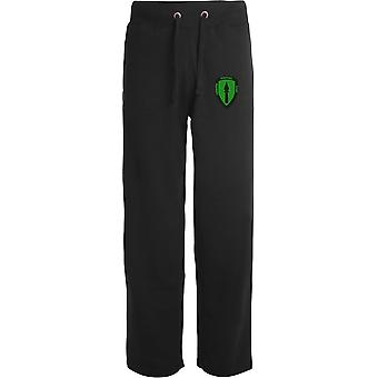 Allied Rapid Reaction Force-licenseret britisk hær broderet åbne hem sweatpants/jogging bunde