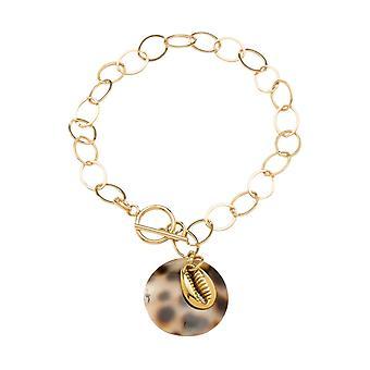 Gemshine maritim Nautic armbånd Kauri Shell 925 sølv høy kvalitet forgylt